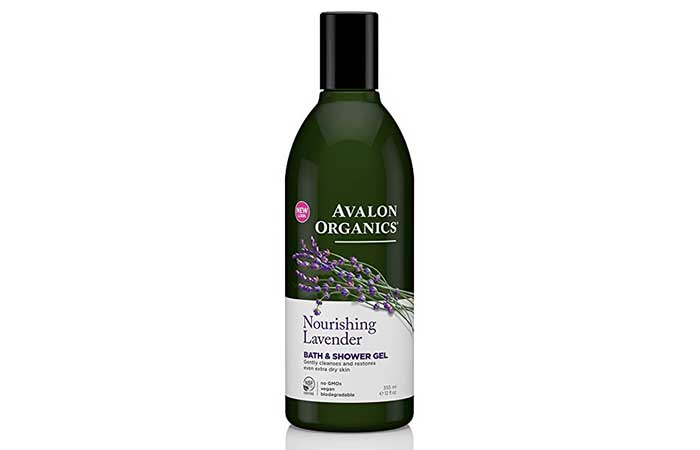 7. Avalon Organics Lavender Shower Gel