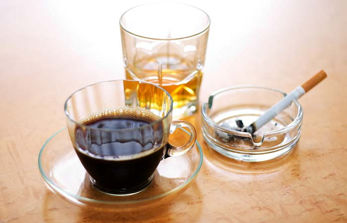 7. Caffeine And Alcohol