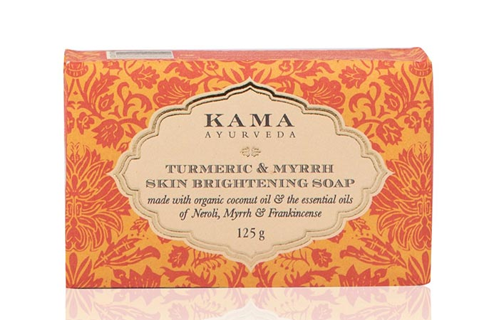 7. Kama Ayurveda Turmeric And Myrrh Skin Brightening Soap