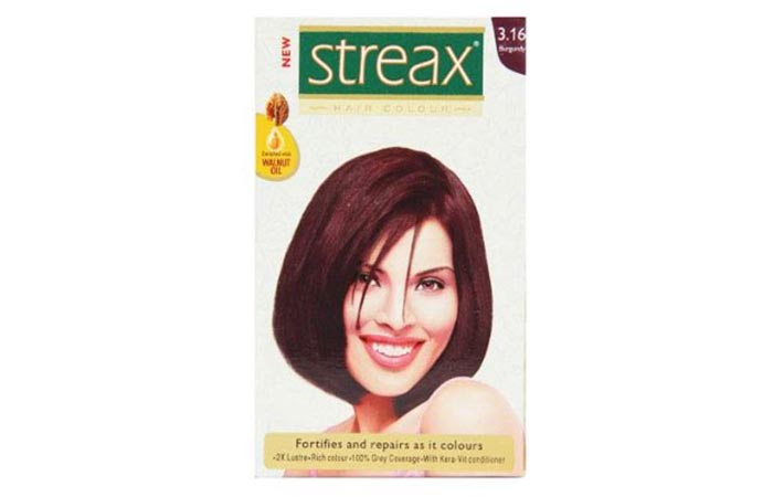 7. Streax Burgundy 3.16 Hair Color