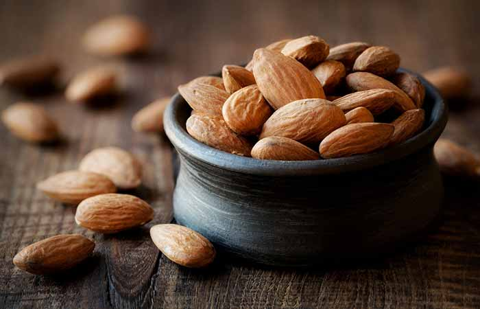 Foods To Prevent Hair Loss - Almonds