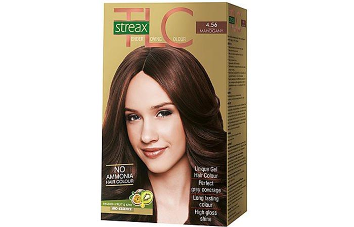 8. Streax Mahogany Brown 4.56 Hair Colour