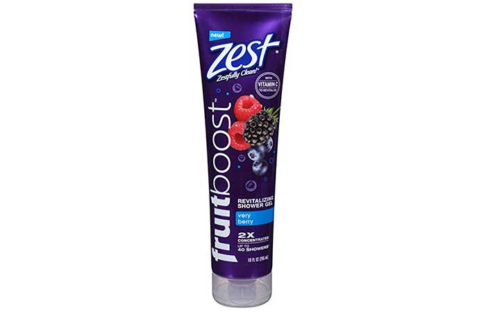 8. Zest Fruitboost Very Berry Shower Gel