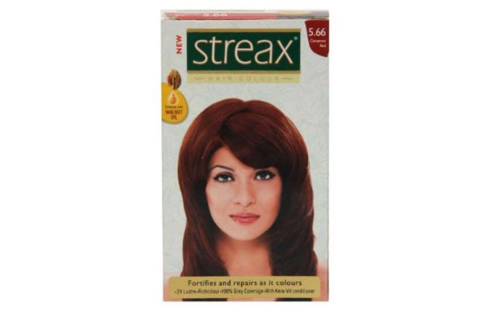9. Streax Cinnamon Red 5.66 Hair Color