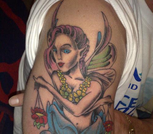 angel libra tattoo