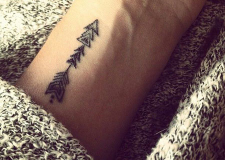 Aztec Arrow Tattoo