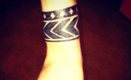 Aztec Wristband Tattoo Design: