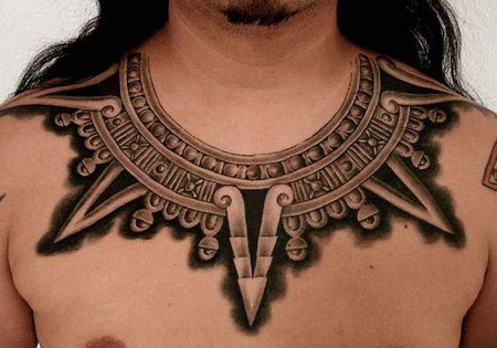Aztec necklace Design Tattoo