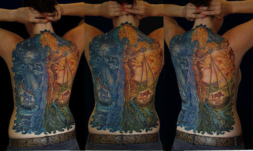 back piece libra tattoo