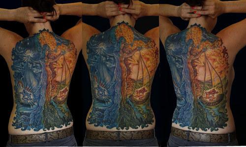 back piece libra tattoo