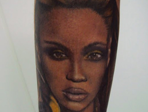 beyonce full face tattoo