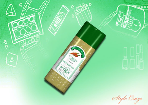 biotique bio carrot seed after bath body oil