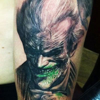 Bloody Grin of Joker tattoo