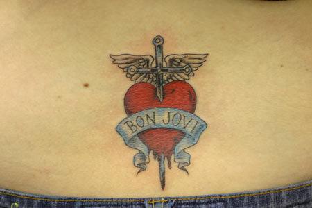 Bon Jovi Scroll Tattoo