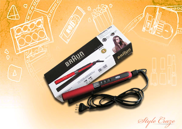 Braun Satin Hair Color Straightener