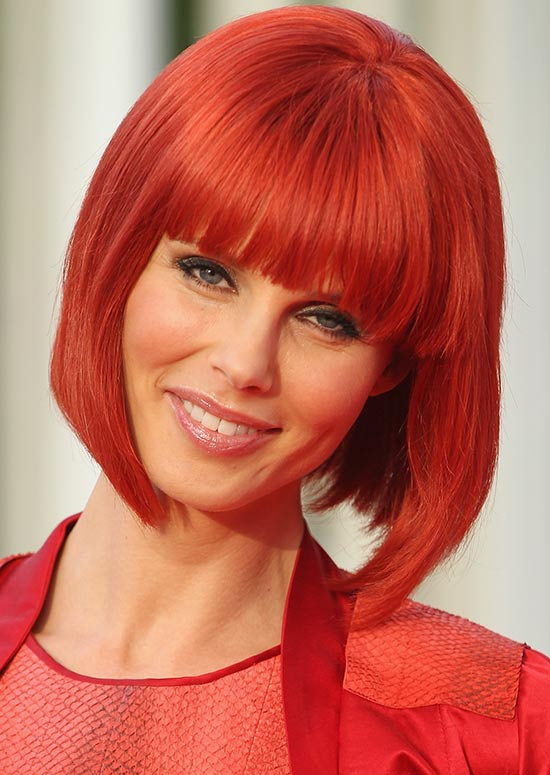 Carrot Red A-Line Bob with Front Fringes