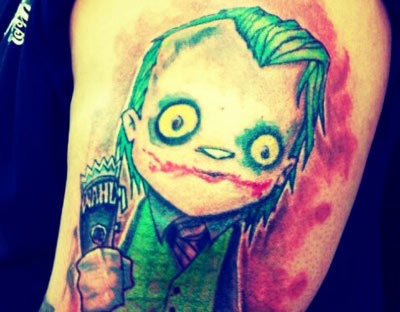 Cartoon Joker Tattoo Design