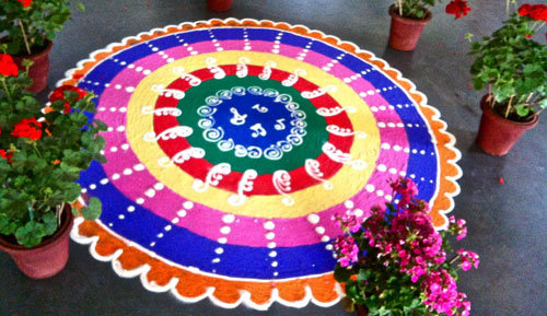 Colorful Circular Rangoli Design