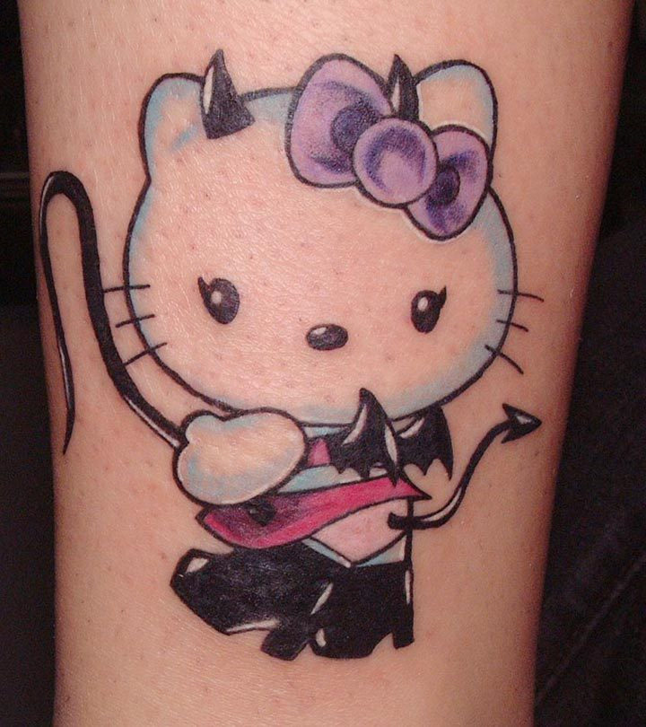 Cute-&-Lovely-Hello-Kitty-Tattoo-Designs