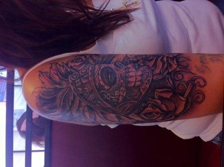 Tatuaggio azteco morto