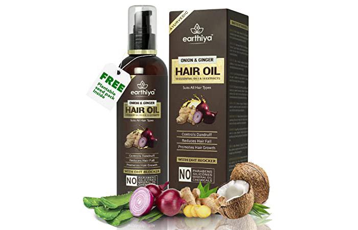 Earthiya Onion & Ginger Hair Oil