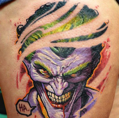 Evil Joker Grin Fade Design