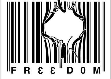 Freedom from Corporatisation Barcode Tattoo Design