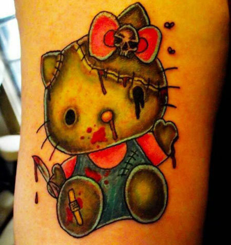 Gory Kitty Tattoo