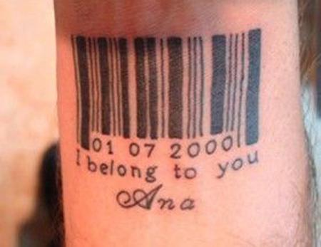 "I Belong To You"" Anniversary Tattoo Design"