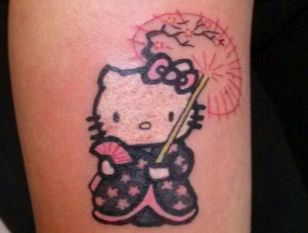 20322a27e 15 Cute & Lovely Hello Kitty Tattoo Designs