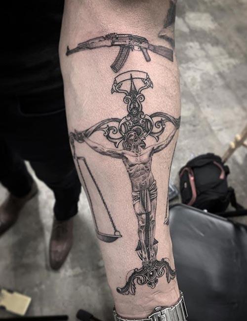 Jesus Libra Tattoo