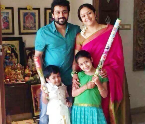 Jyothika and Surya