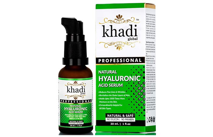 Khadi Global Natural Hyaluronic Acid Serum - Face Serums For Dry Skin