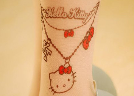 Kitty on Anklet Tattoo