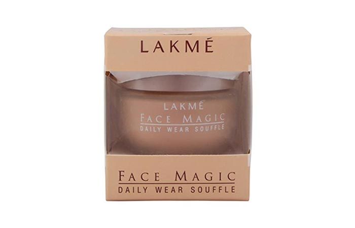 2. Lakme Face Magic Daily Wear Souffle Foundation (Natural Marble) - Best Natural Foundation