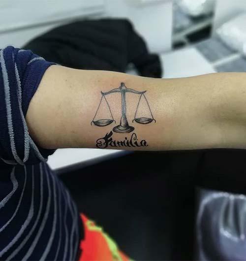 Libra Arm Tattoo
