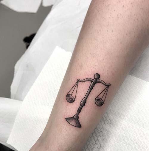 Libra Scale Tattoo