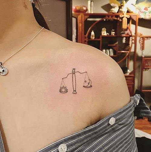 Libra Shoulder Tattoo