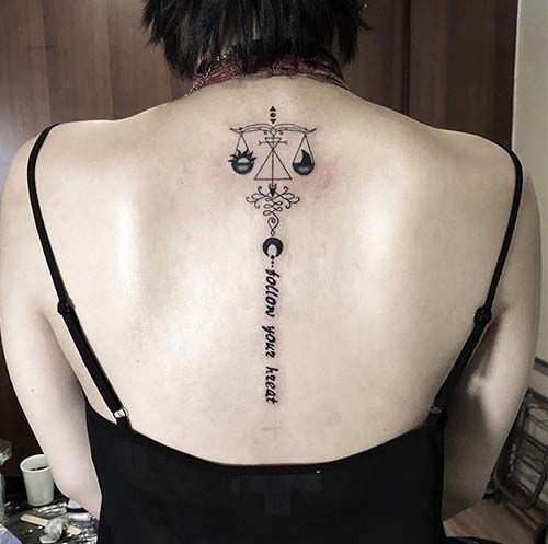 Libra Tattoo On The Back