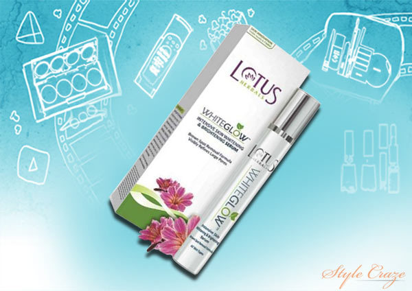 lotus herbals white glow intensive skin whitening and brightening serum