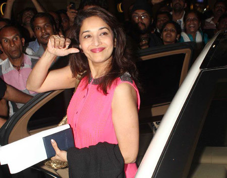 Madhuri at international airport