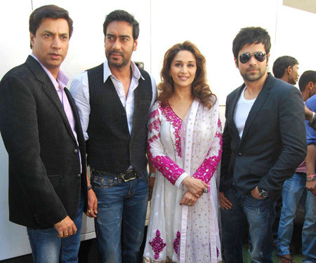 Madhuri dixit with her colleagues