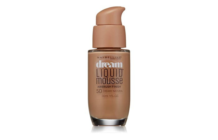 4. Maybelline Dream Liquid Mousse Foundation (Creamy Natural) - Best Natural Foundation