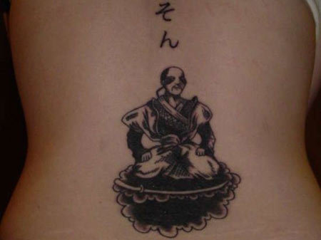 Meditating Samurai Tattoo