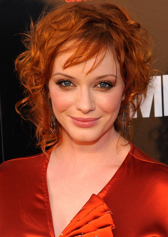 Messy Asymmetric Reddish Blonde Bob with Fringes