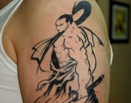 Minimalist Samurai Tattoo
