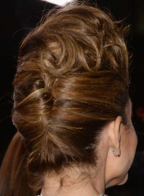 Modified French Twist with Curly Volumized Top