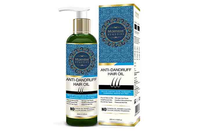 Morpheme Anti-Dandruff Hair Oil (Castor, Olive, Rosemary, Bhringraj, Neem & Tea Tree) 200ml