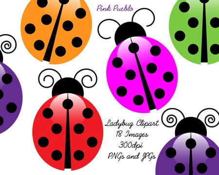 Multi-coloured ladybugs tattoo Design