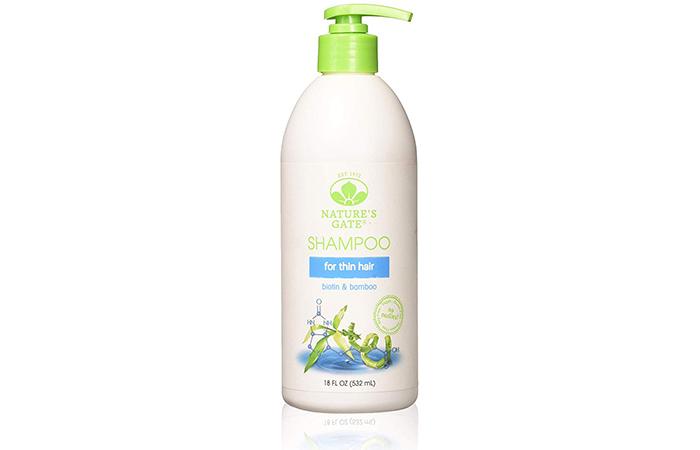 Natures Gate Natural Biotin And Bamboo Shampoo For Thin Hair